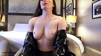 PVC Coat, Shiny Panties and Spit