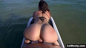 Fat booty Kelsi Monroe got fucked on the jet ski