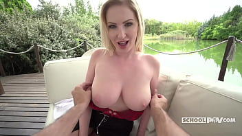 Curvy Milf Georgie Lyall Gives An Extra Lesson - ItsPOV