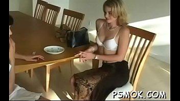 Tempting playgirl smoking scene