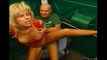 Zarina porn Old stud bangs blonde milf in an outdoor toilet