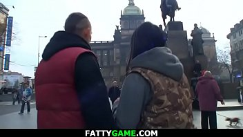 Bbw slut picks up stranger for sex