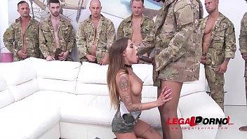 Silvia Dellai anal gangbang with DP, DAP & Triple Penetration SZ2003 2 min