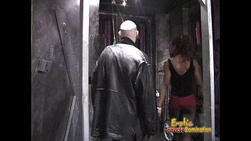 Slim Ebony Domi natrix Pleasures A Horny Dude  s A Horny Dude In The Dungeon