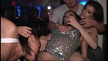party girls go lesbian in the club