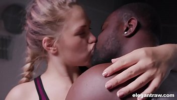 Norwegian teen is horny and craves anal with a black dick