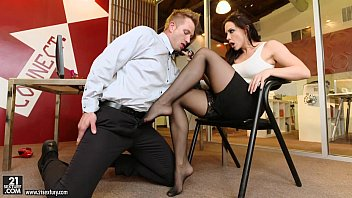 Foot jobs in stockings Foot fetish with chanel preston