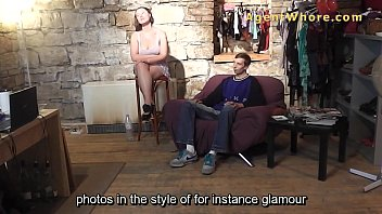 BUSTY milf with shy guy at their first casting 10 min