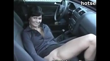 Pink pussy corn Mature woman fucks herself in the vagina with corn in the car