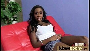 Ebony Gang bang and CUM FEEDING 2