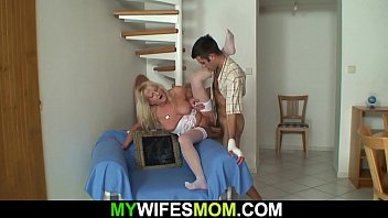 Hot mother in law in white lingerie taboo sex
