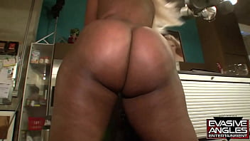 EVASIVE ANGLES A Big Ass Hunt. Gizelle Black Slut With Great Tits And Huge Bubble Butt Takes Big Black Dick 11 min