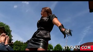 Bdsm dominatrix stories - Elegant dominatrix live out her fetish fucking maid with toy