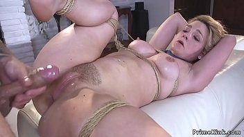 Gagged tied up blonde anal fucked porno izle