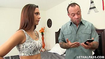 Teen Slut Hooks Up With Her Step Dad!