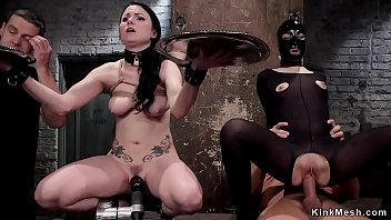 Master makes gimp babe rimming trainee