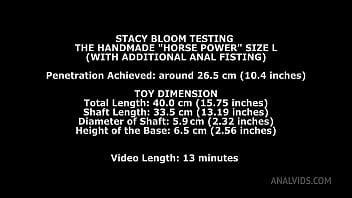 Stacy Bloom Tests the Horse Power Handmade Dildo Size L and gets 26.5cm (10.4 inches) up her ass with Anal Fisting TWT003 thumbnail