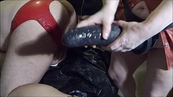 Mr Hankey dildo for the first time