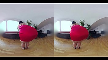 Czech VR 345 - Hot Slut in Tight Red Dress Riding Cock