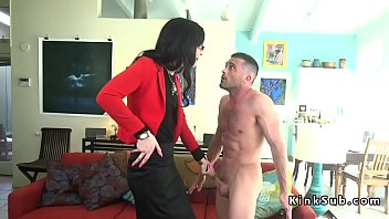 Shemale dominating guys - Tall tranny anal fucks small guy