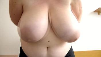 Debbie - Swinging Big Boobs - First video ever 59 sec