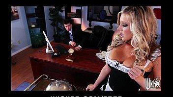 Stunning blonde maid Samantha Saint is fucked by her boss 5 min