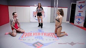 Victoria Vox Mixed Nude Wrestling Strapon Fucks The Loser