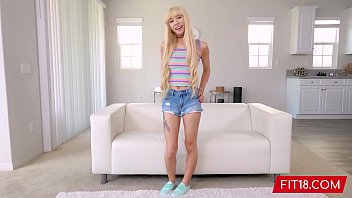FIT18 - Kenzie Reeves - Casting Tiny Blonde Like An Anime Girl With Abs