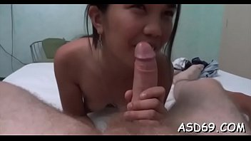 Tiny sexy thai girls video - Oriental cutie blows shlong nicely