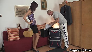 Brunette wife takes rough punishment for cheating