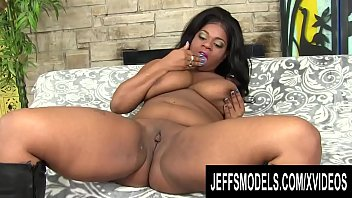 Chubby Beauty Ms Mirage Treats Her Black Pussy to a Vibrator Orgasm