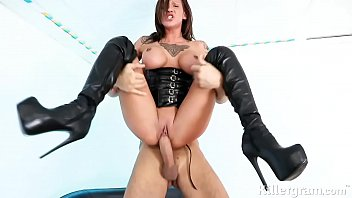 Plus size leather lingerie in uk - Hot babe chantelle fox is a sub slut gagging for big fat cock