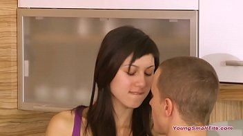 super tiny young and small tits teen girl have a hot time after school with boyfriend