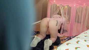 I Fuck My Step Daughter Stuck in a tent and her Mom Catches Us!