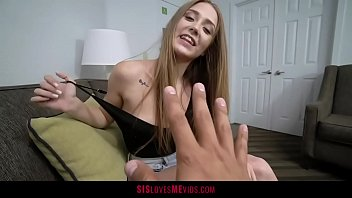 Tiny Teen Takes A Big Black Dick From Her Stepbro