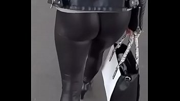 Ass in leggings - (latex)