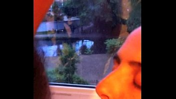 Wife sucks cock at window for neighbors to see