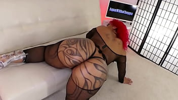 AquaWithaChoppa Thick Big Ass Stripper Gets Naked