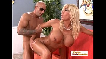 Shaved dick - Amazing blonde uses her big tits to make a dick hard