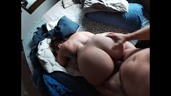 Big uncut cock fucking bbw ! Cum shot on that fat ass