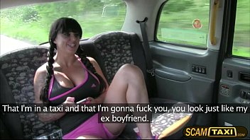Super hot Kerry rides a taxi and gets hard fucked in the backseat of the car