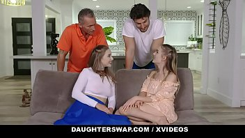 DaughterSwap - Cute Teens Have A Hardcore Foursome With Big Dick Dads