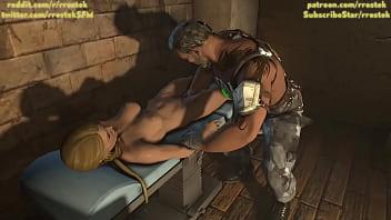 Sonya Blade brutal fisting from Kano Mortal Kombat X Animation