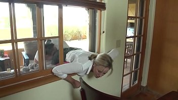 Mom gets help from sons being stuck in window porno izle