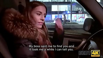 DEBT4k. Debt agent comes to Eveline Dellai house and nails her