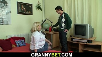 Fucking her old grandmother in pussy
