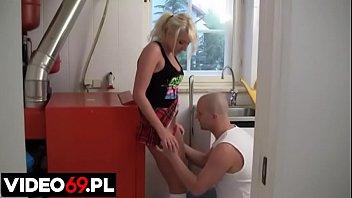 Polish porn - Hard fucking a teen schoolgirl in the dorm