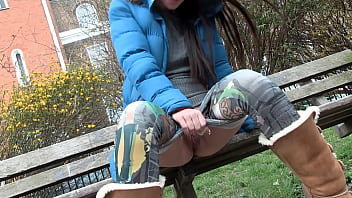 Beautiful slut pissing in public and masturbating in a working class London