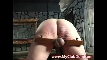 humiliated and spanked submissive guy