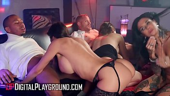 Four gorgeous chicks sharing big hard cocks in group sex - DigitalPlayground